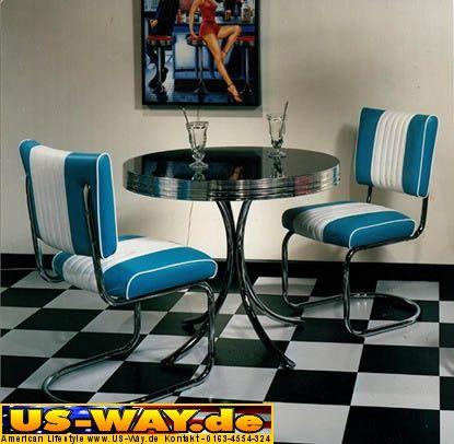 hw 120 t rkis bel air diner m bel dinerbank k chenbank. Black Bedroom Furniture Sets. Home Design Ideas