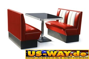 kuchenmobel usa : Details zu USA Bel Air Diner M?bel Dinerbank K?chenm?bel US Style