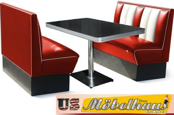 bel air dinerbank set 8farben retro fifties hw 120 50er. Black Bedroom Furniture Sets. Home Design Ideas