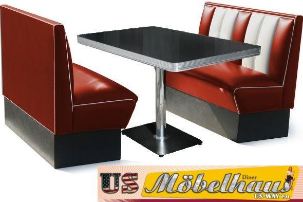 Bel Air Set Dinerbänke Mit Tisch ...