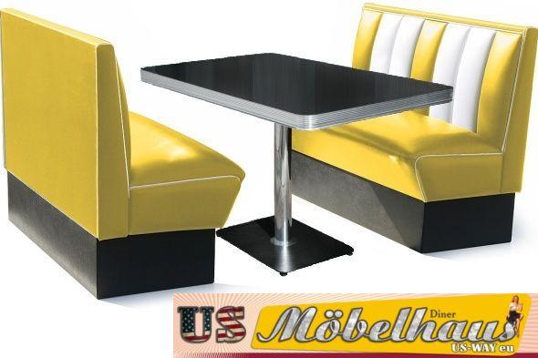 hw 270 american dinerbank eckbank diner b nke m bel 50 s. Black Bedroom Furniture Sets. Home Design Ideas
