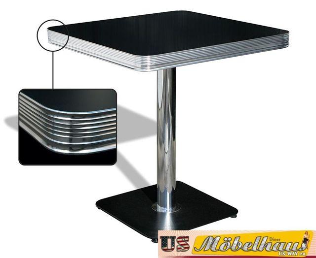 Esstisch Diner Style ~ TO22w American Dinertisch Esstisch Diner Tisch Gastronomie Möbel Fifties Sty