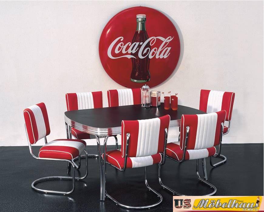 Esstisch Diner Style ~ TO36 Bel Air Diner Tisch Stehtisch Esstisch Fifties Style Retro 50er Jahre U