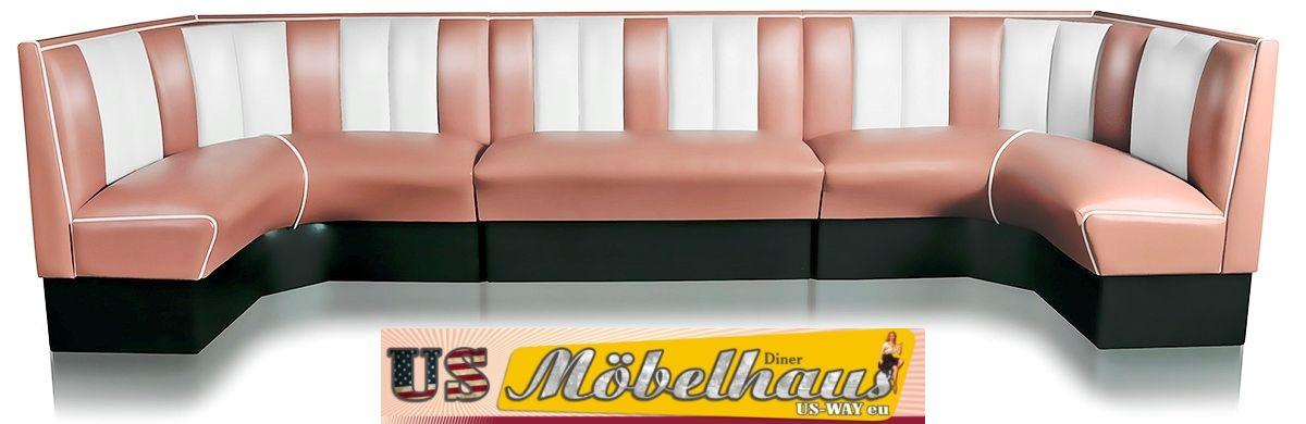 hw 120 amerikanische m bel dinerbank sitzbank diner b nke. Black Bedroom Furniture Sets. Home Design Ideas
