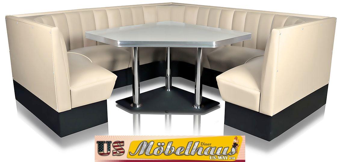 Esstisch Diner Style ~ TO25w American Dinertisch Esstisch Diner Tisch Gastronomie Möbel Fifties Style