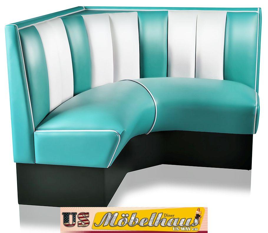 hw 70dbblack american dinerbank sitzbank diner b nke m bel. Black Bedroom Furniture Sets. Home Design Ideas
