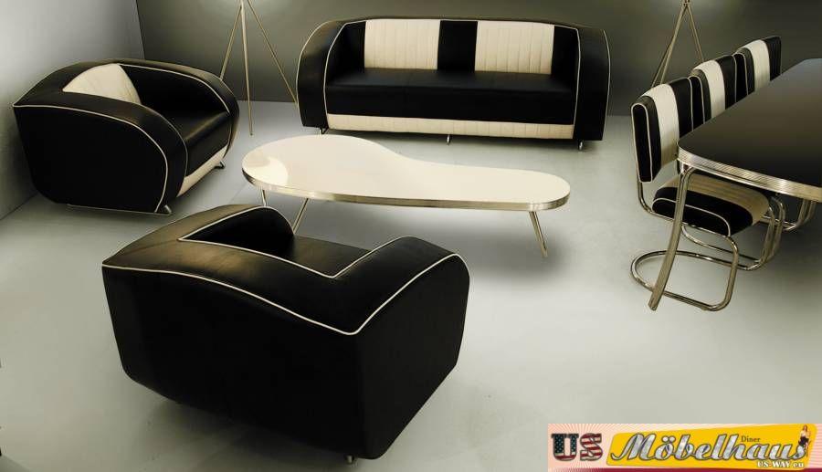G63 Bel Air Fifties Style Designer Sofa Wohnzimmer Sessel ...