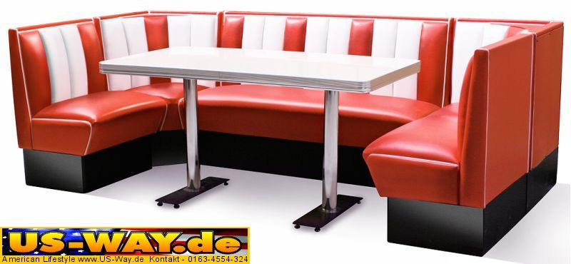usa bel air diner m bel dinerbank k chenm bel us style ebay. Black Bedroom Furniture Sets. Home Design Ideas