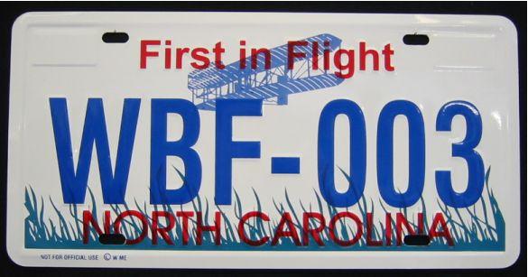 License Plates Nummernschild Aus North Carolina