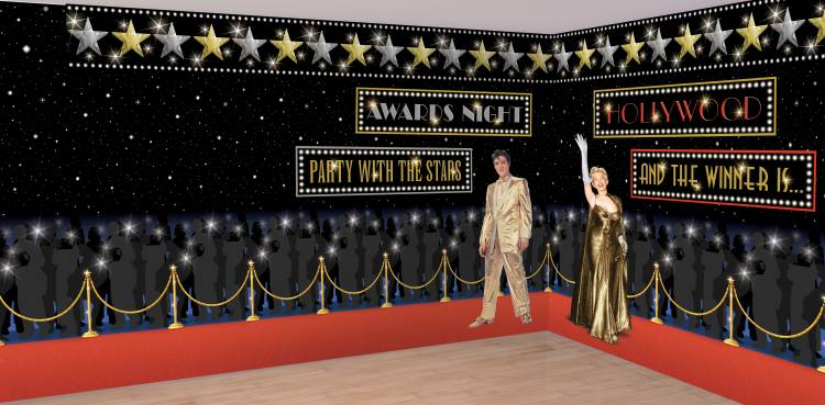 Wand Dekoration 12,2m Ideal Für Ihre Hollywood Party