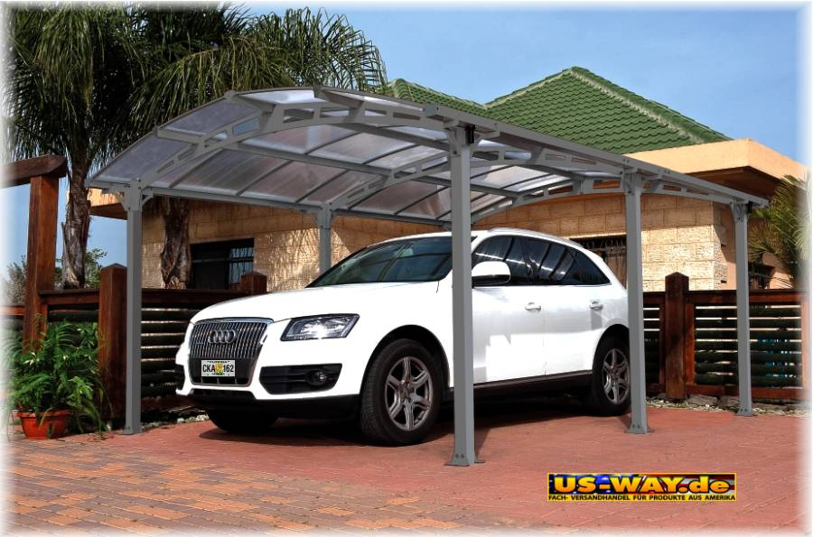 carport miami cool design unterstellplatz bausatz fertiggarage aluminium garage ebay. Black Bedroom Furniture Sets. Home Design Ideas