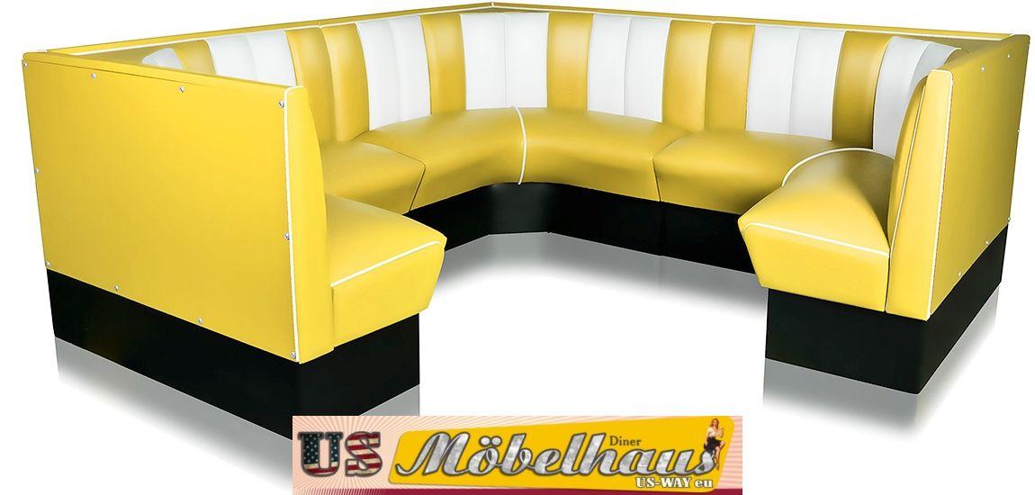 hw 70db american dinerbank sitzbank diner b nke m bel 50 s usa style gastronomie 4260382722501. Black Bedroom Furniture Sets. Home Design Ideas
