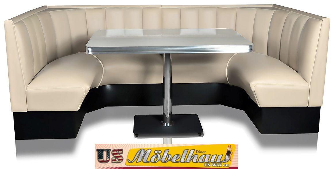 Bel Air Set Diner Eckbank Mit Tisch