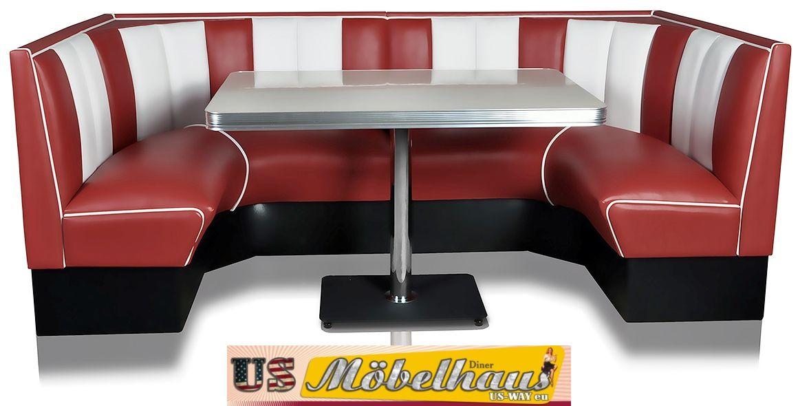 Tavolo Da Cucina Con Panca Angolare.Hw 120 120 Rubino Americano Mobile Divano Diner Panca Angolare