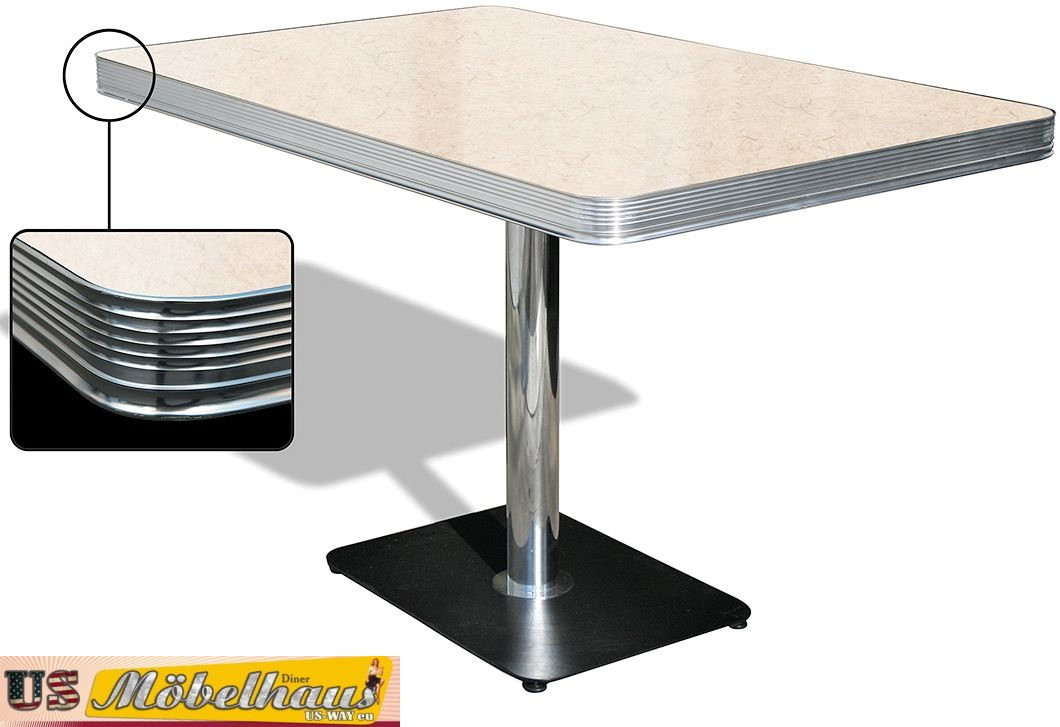 To 22a American Dinertisch Dining Table Diner Catering Furniture Fifties Style Ebay