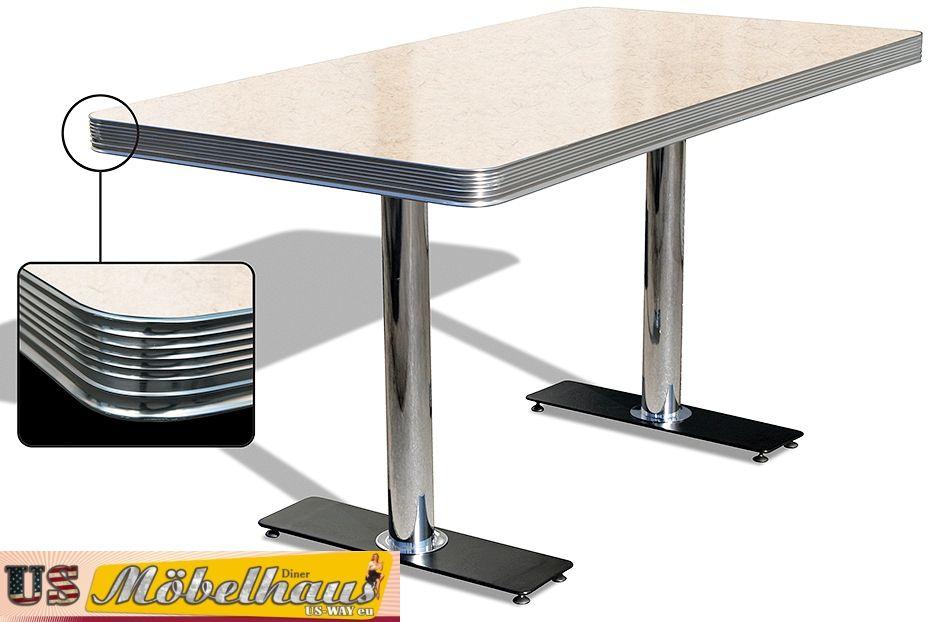 To 25a American Dinertisch Esstisch Diner Tisch Gastronomie Möbel